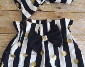 Baby bloomer gold dots  size new born to 24 months
