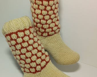 Handknitted socks for women