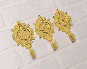 Decorative Hooks/Shabby Chic/Coat Hook/Nursery Hook/Towel Hook/Decorative Wall Hook/Cast Iron Decor/Ornate Wall Hook/
