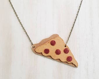 New York Slice Leather Necklace