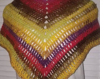 Multi-colored Simple Shawl