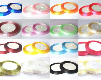 1 roll of 23 meters //couleur choice 10mm satin ribbon