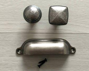 98 mm Shabby Chic Griffe für Möbel Knäufe Möbelknöpfe Antik