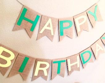"John Deere ""Happy Birthday"" Banner"