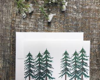Seasons Greetings Christmas Card Christmas Tree
