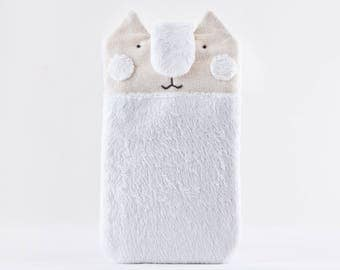White Cat Samsung Galaxy S8 case, Fluffy iPhone 7 Plus case, Cat Lover Gift, Cute iPhone 6 Plus sleeve, iPhone 7 case, Gift for Her