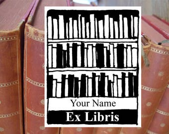 "Bookplate stamp or stickers  ""Library"", librarian stamp, exlibris stamp, personalized exlibris, custom bookplate stamp, ex libris labels, 03"