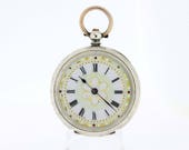 1800s Silver Pocket watch with Ornate Dial