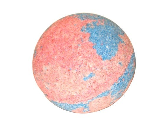 FUN & FRUITY Bath Bomb - Sea Salt, Organic Avocado and Grapeseed Oil for Super Soft Skin! - / Vegan / Kids / Bathtime Fun / Bath Fizzer