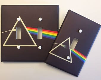 Pink Floyd Prism light switch plate Dark Side of the Moon // SAME DAY SHIPPING !! **