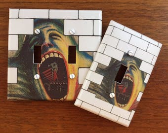 Pink Floyd light switch plate // The Wall Hammers // SAME DAY SHIPPING**