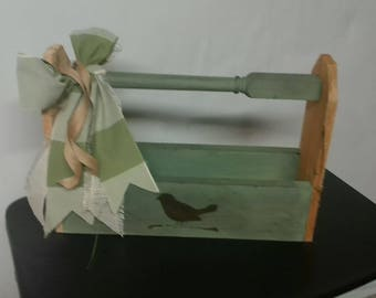 Primitive Country wooden Box Green