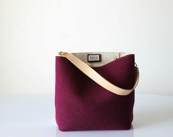 Bucket Bag, Hobo Tote Bag, Crossbody Bag, Gray Bag, Handbag, Purse, Casual Bag, Shoulder Bag, Gift For Her, Christmas Gift For Her