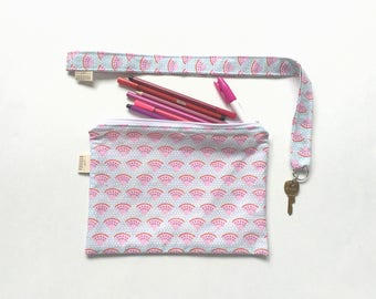 Zipper Pouch and Coordinated Landyard