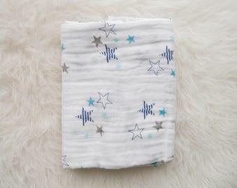 Star Muslin Swaddle Blanket
