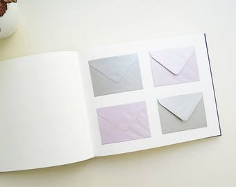 Wedding guest book / / 120 envelopes