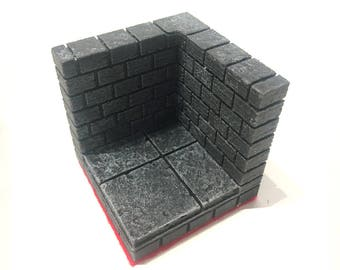 2x2 Corner Tabletop Tile - Dungeons and Dragons and other Tabletop games