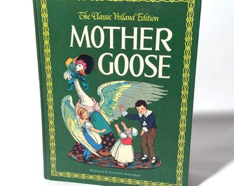 Vintage 1970s Classic Volland Edition of The Real Mother Goose, Hardcover
