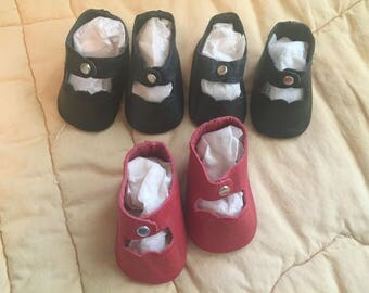 """Beautifully Made Vintage Style Doll Shoes,  2  1/4"""" x 1  1/4"""""""