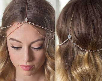 Rose gold headpiece Etsy