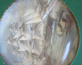 The Great Clipper Ships Collector Plates  LJ Pearce NIB with Certificate Sea Witch