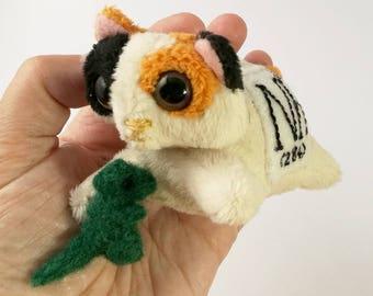 Elemental Cats: Nihonium - OOAK handmade periodic table science art doll soft toy