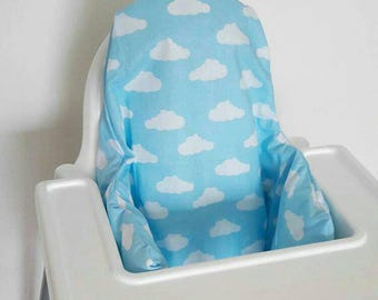 Antilop IKEA highchair cushion cover - cushion cover only - toy story blue skies white fluffy clouds cushion cover - READY to SHIP