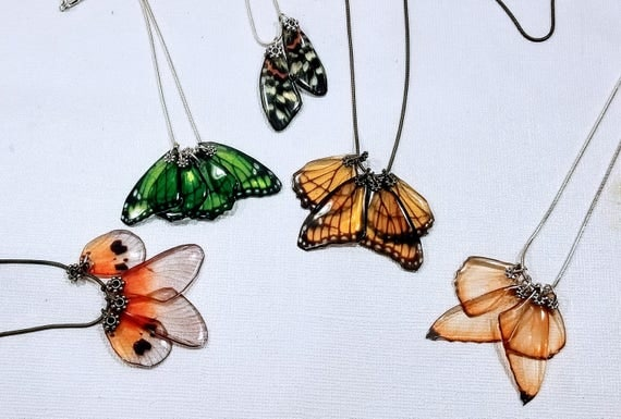 Flock of Flutterbys - Choose your butterfly wing necklace