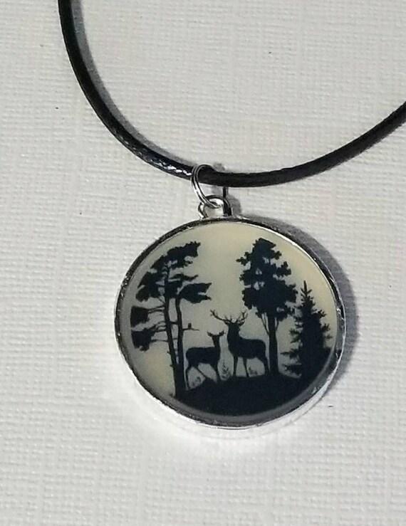 Quiet Woods - color changing necklace