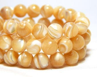 6mm Mother of Pearl Beads, MOP Beads, Mother of Pearl, Shell Beads, Beach Beads, Ocean Beads, Beige Beads, Tan Beads, Off White Beads, B-39B