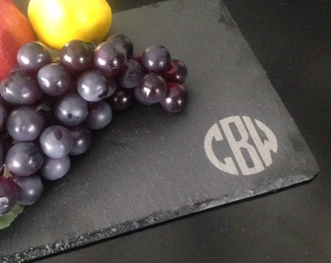 Monogrammed Slate Cheese Board