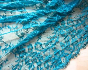 Pine eyelash lace fabric ,1yard Chantilly lace fabric sold by yard,wedding Lace trim,150cm Eyelash lace for lace dress