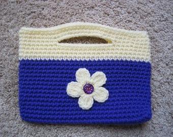 Crocheted Purse - Handbag - Tote - NEW