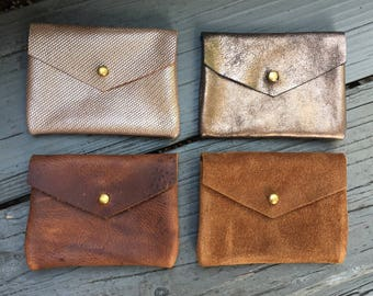 CARD WALLET Leather Business Card Holder • Credit Card Case