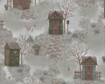 Japanese cotton, Taupe Fabric, DAIWABO CF13070S-E