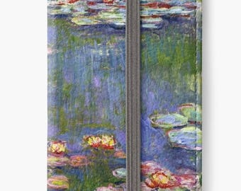 Folio Wallet Case for iPhone 8 Plus, iPhone 8, iPhone 7, iPhone 6 Plus, iPhone SE, iPhone 6, iPhone 5s - Water Lillies (Nymphéas) by Monet
