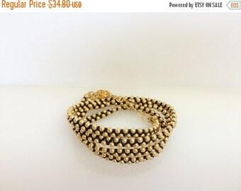 SUMMER SALE 20% OFF Black and gold wrap bracelet , statement bracelet,  Multi Strand Bracelet, Layered Bracelet, Dainty Bracelet,