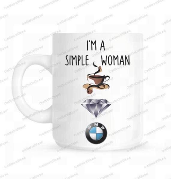 I am a simple woman mug, funny mug, coffee lover, I am a Simple Woman, I Like Handsome Bearded Brunette men and Breakfast Foods