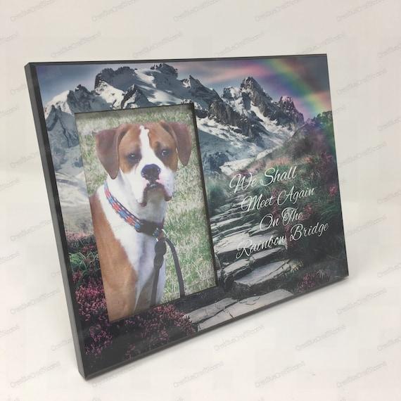 The Rainbow Bridge Pet Memorial Frame, Dog Memorial Frame, Loss of Pet, Pet Portrait, Pet Photo Picture Frame, Dog, Pet Loss Remembrance