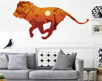 African Lion Wall Sticker Decal AW92006