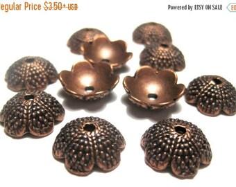 50% OFF Clearance Sale-- Antique Copper Acorn Tops Bead caps