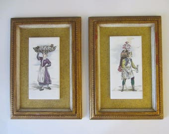 Medieval Porcelain Tiles Cries of London Framed Plaques Created For B Altman