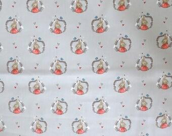 Fabric - Peter rabbit - portrait - cotton print.