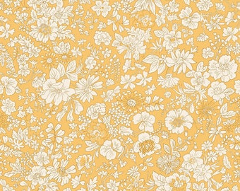Fabric -Liberty  - The English Garden - Emily silhouette, gold - Quilters weight cotton