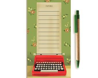 Notepad. Vintage Typewriter.