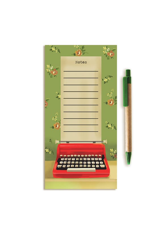 Notepad. Vintage Typewriter.