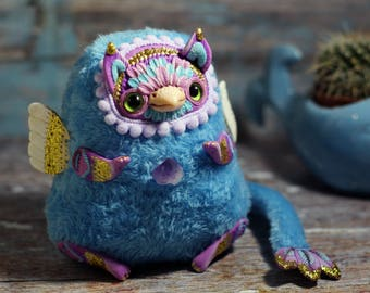 Ooak doll Griffin art collectible fantasy doll polymer clay toy miniature ooak toy fantasy creature magic