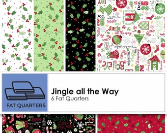"Jingle All The Way Fabric Precuts; KimberBell for Maywood Studio; Kimberbell Fabric; 5"" or 10"" squares, Fat Quarter; Christmas Fabric"