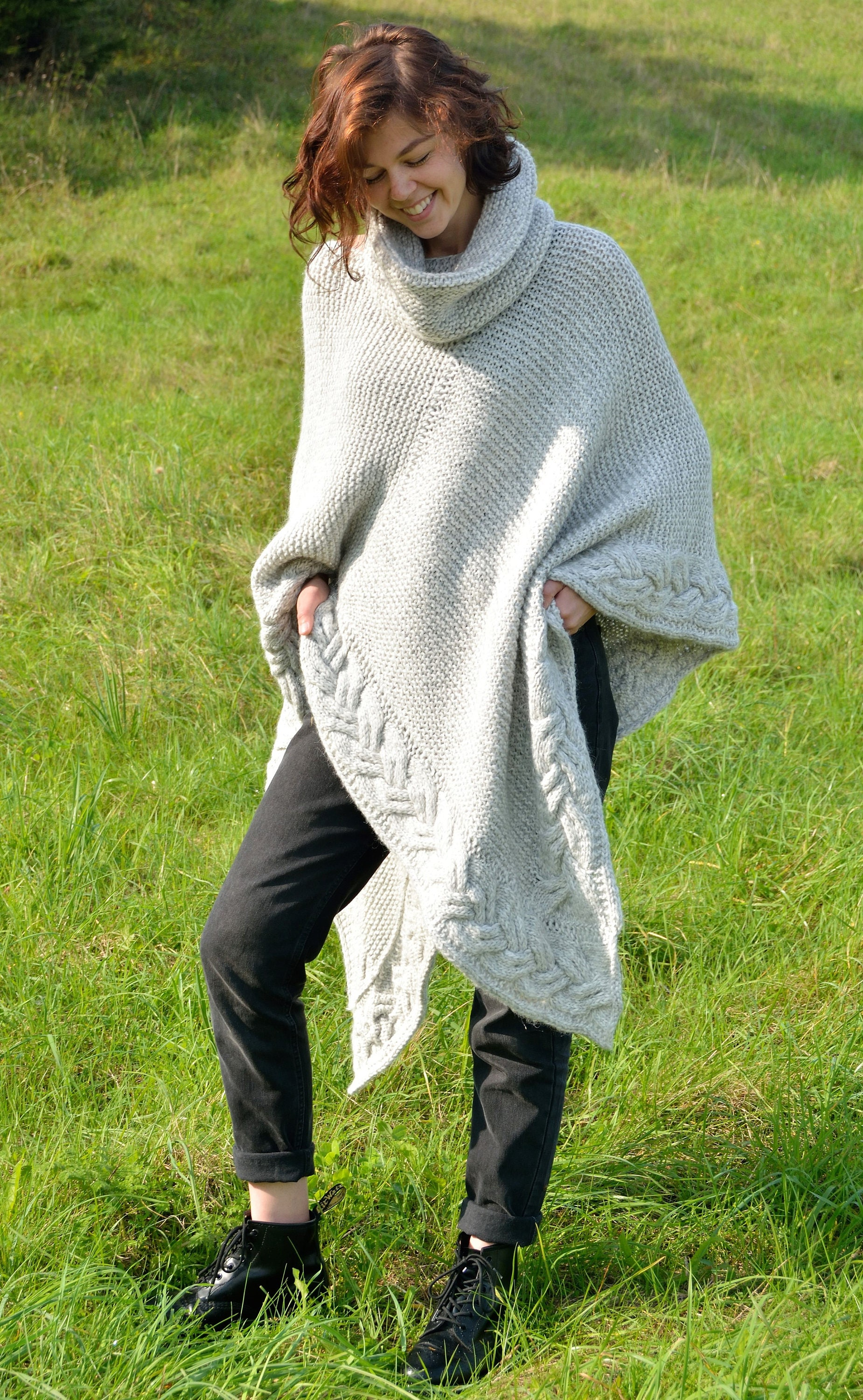 Knitting patterns cardigan plus size over size poncho coat this is a digital file bankloansurffo Gallery
