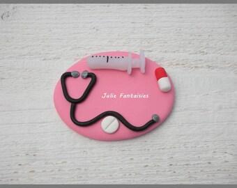 Badge-nurse / doctor dough Fimo to customize (nurse Badge, doctor, therapist...)